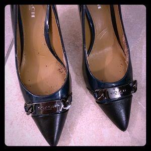 Used Coach kitten heels. Sz 5